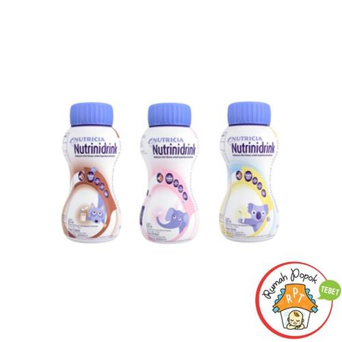 Foto Produk Gojek/ Grab. Nutrinidrink Cair Coklat, Strawberry, Vanila 200 ml - Nut.cair strwbr dari GB Multi Sukses