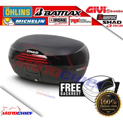 Foto Produk Box motor shad 46 SH46 SH include backrest cocok u Nmax Xmax Vixion CB dari Motochiefdotnet
