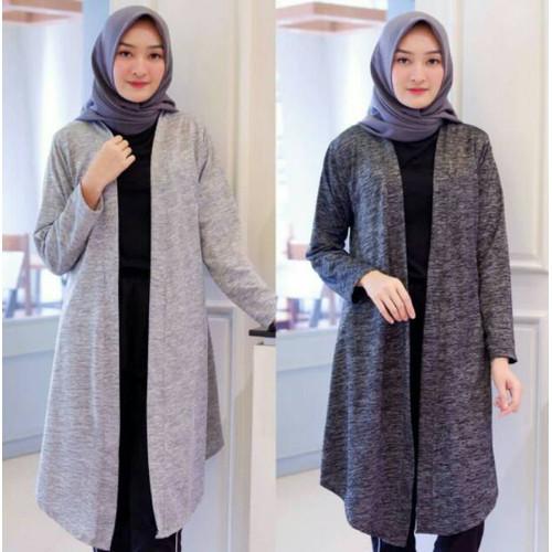Foto Produk Long Cardigan Panjang Rajut Wanita Fashion Muslim Kardigan Cardi Cardy - Hijau Army dari MayKitchenware