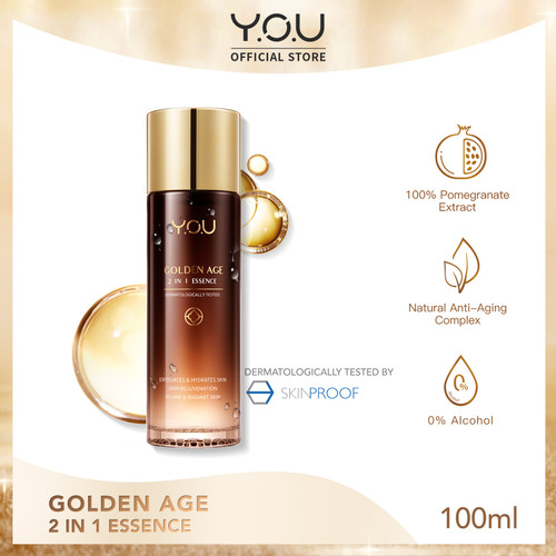 Foto Produk YOU Golden Age 2 in 1 Essence 100ml [1 Step for 8 skin Solutions] dari YOU Makeups Official