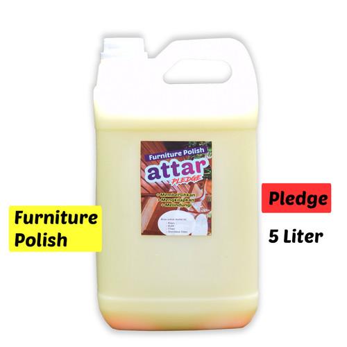 Foto Produk ATTAR Pledge Furniture Polish 5L - Pembersih & Pengkilap Meubel Kayu dari Tasneem