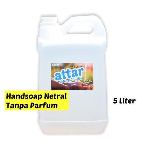 Foto Produk HANDSOAP NETRAL, NON PARFUM 5 Liter, Sabun Cuci Tangan Hand Soap Tanpa dari Tasneem