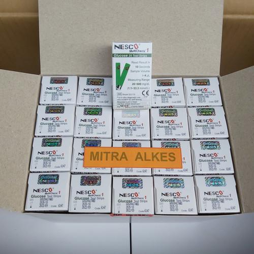 Foto Produk Strip gula darah nesco / strip glucose nesco / stik gula darah nesco dari MITRA  ALKES