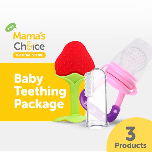 Foto Produk Mama's Choice Baby Teething Package - Paket Persiapan Tumbuh Gigi - Strawberry dari MamasChoiceID
