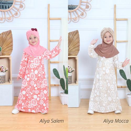 Foto Produk Baju Gamis Busana Muslim Syari Anak Perempuan Usia 5 6 7 8 Tahun - Aliya Salem, 4-6 thn dari Kids Mode