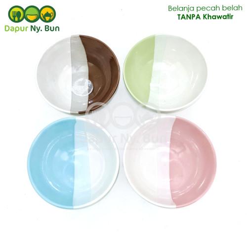 Foto Produk Mangkok Nasi Besar Two Tone / 2 Warna Ukuran 6 Inch dari Dapur Ny.Bun