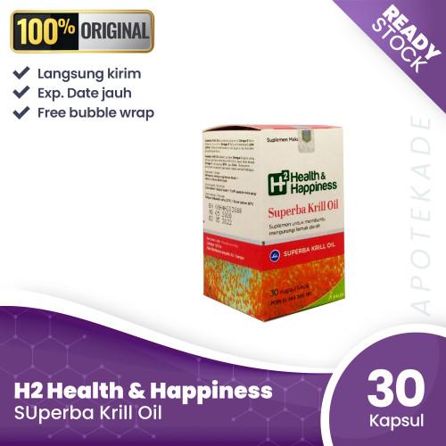 Foto Produk h2 health & happiness kalbe superba krill oil / lemak darah dari apotekade
