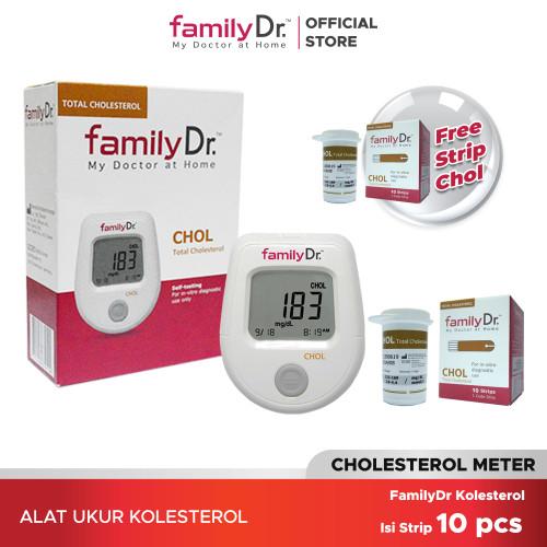 Foto Produk familyDr CHOL meter dan Strip dari familyDr
