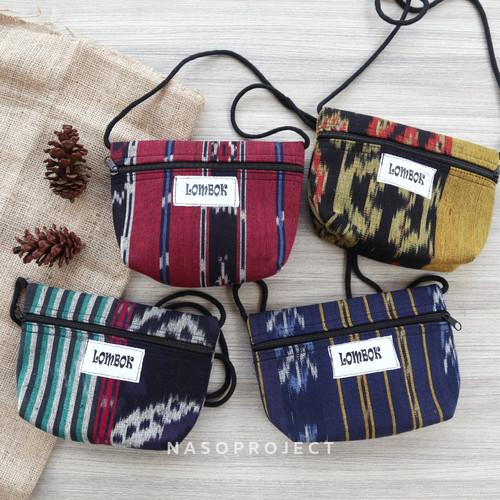 Foto Produk Tas Etnik Kain Tenun Lombok Mini Sling Bag dari nasoproject