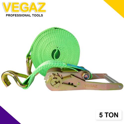 Foto Produk VEGAZ - Rachet tie Down / Tali Rachet 5 TON x 10 M dari Vegaz-Tools