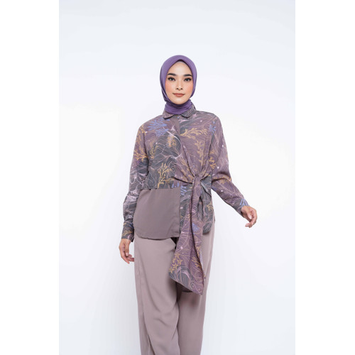 Foto Produk ZM Zaskia Mecca - Izza Brown Tunik - Jelita Indonesia - Edisi Derawan - XL dari Zaskia Mecca Official