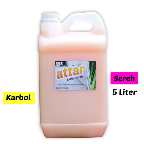 Foto Produk Khusus GoSend/GRAB - Karbol SEREH Wangi - Attar 5 Liter dari Tasneem