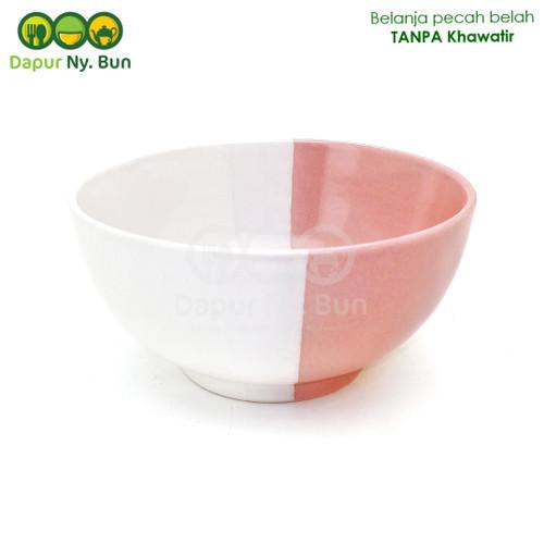 Foto Produk Mangkok Nasi Besar Two Tone / 2 Warna Ukuran 6 Inch - Merah Muda dari Dapur Ny.Bun