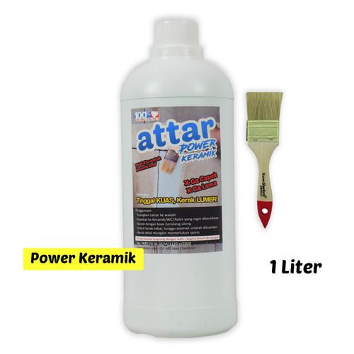 Foto Produk ATTAR Power Cairan Pembersih KERAMIK / WC / Toilet 1 Liter dari Tasneem