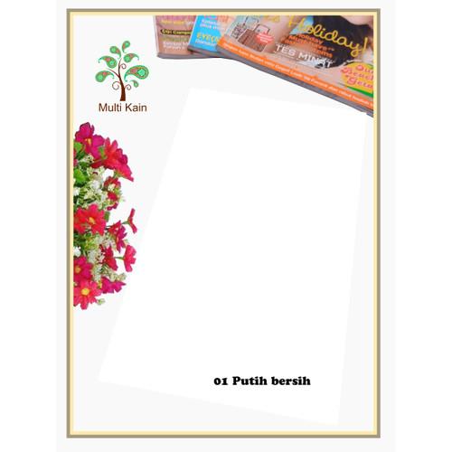 Foto Produk Multi kain katun cotton TOYOBO Royal Mix RM exclusive import murah - RM 1 putih dari multi kain