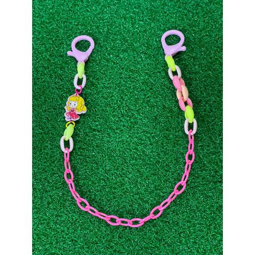 Foto Produk Aurora Pink kait masker anak JUMBO clasp 3.5 cm rantai plastik - 36 cm(Kids) dari Rita Handycraft