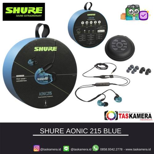 Foto Produk SHURE SE215 SPE Blue Sound Isolating Earphones - Earphone SHURE - Mic dari taskamera-id