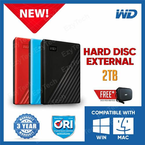 Foto Produk WD My Passport 2TB - HDD / HD / Hardisk / Harddisk External Eksternal - Hitam dari EzyTech