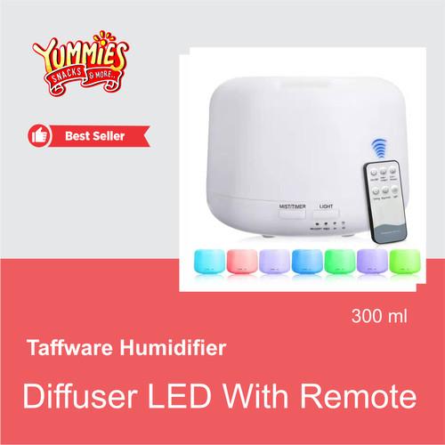 Foto Produk Taffware Diffuser Humidifier 7 warna LED Remote HUM24 Aroma Terapi dari yummies