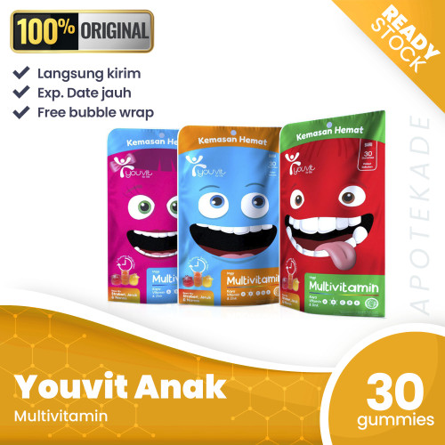 Foto Produk youvit anak multivitamin pouch isi 30 kemasan hemat dari apotekade