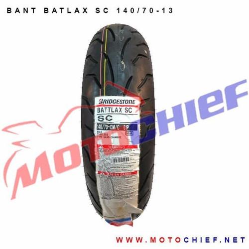 Foto Produk Ban Bridgestone Battlax 140/70-13 SC Bias Tubeless Nmax Rear Belakang dari Motochiefdotnet
