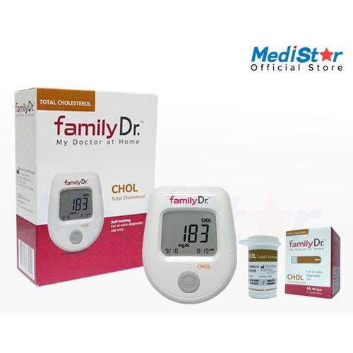 Foto Produk FamilyDr Alat Test Cholesterol Full Set (Meter+Strip) w/ OMRON Promo dari MediStar