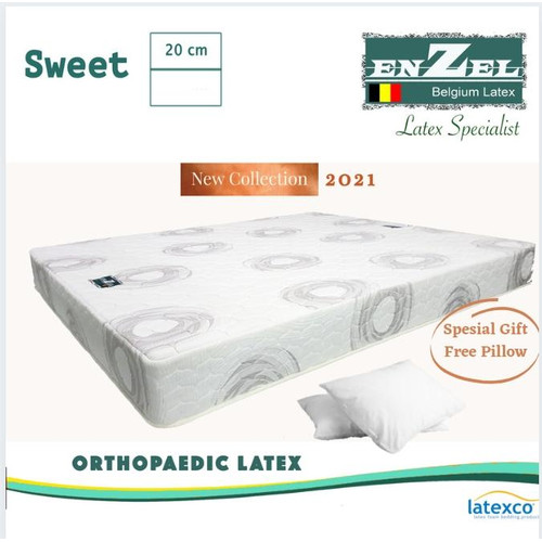 Foto Produk (PROMO PEDULI BANJIR ) Kasur Enzel Latex Sweet 20cm Uk 160x200 dari Enzel Belgium Latex8