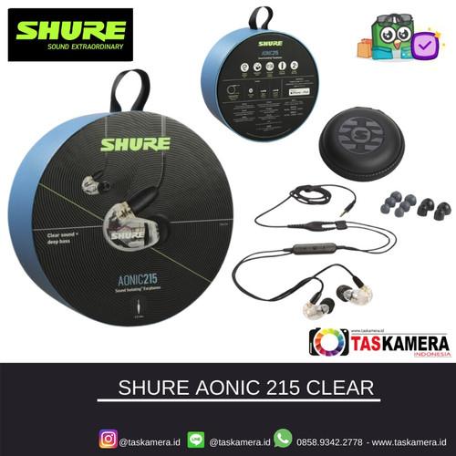 Foto Produk SHURE SE215 Clear Sound Isolating Earphones - Earphone SHURE - Mic dari taskamera-id