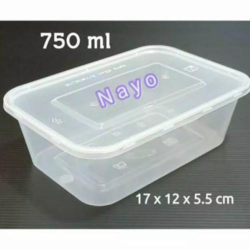 Foto Produk Kotak makan 750ml / Tempat makanan / Kotak plastik / Box plastik dari Nayo Pudding