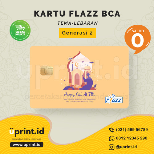 Foto Produk Kartu Flazz BCA Gen 2 | Saldo 0 | Edisi Lebaran| FLZ-L-004 dari Uprint.id