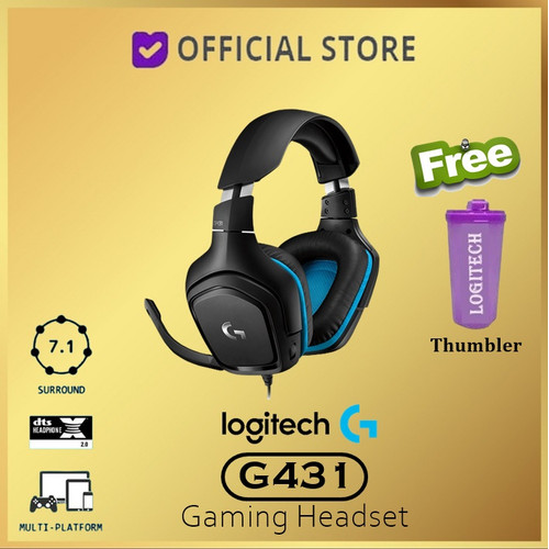Foto Produk Logitech G431 7.1 Surround Sound Gaming Headset with DTS Headphone dari DUNIA COMPUTER & SERVICE