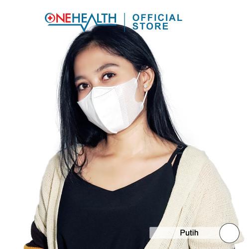 Foto Produk ONEHEALTH MASKER MEDIS 3D COMFORT DUCKBILL MODEL 3 PLY SURGICAL - Putih dari Onehealth Official Store