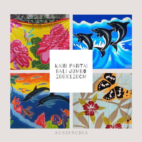 Foto Produk Kain Pantai Lukis Bali Premium Jumbo - Motif Hewan dari aussenchia-bali