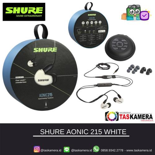 Foto Produk SHURE SE215 SPE White Sound Isolating Earphones - Earphone SHURE dari taskamera-id