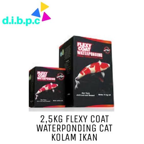 Foto Produk 2.5kg Flexycoat / Flexy Coat Waterponding Cat Kolam Koi - Hitam dari DIBPC
