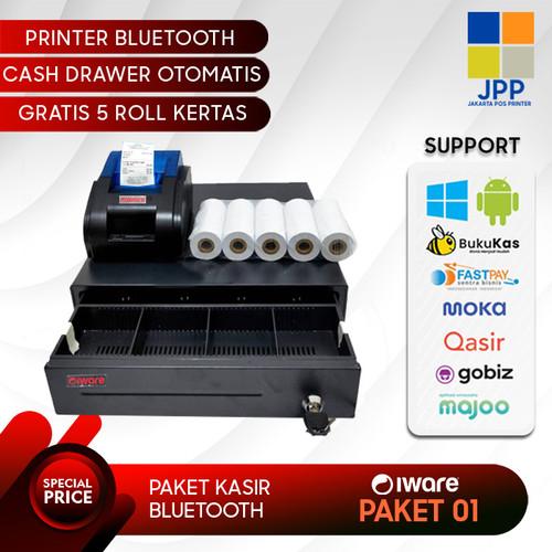 Foto Produk PAKET KASIR / PPOB (CASH DRAWER+PRINTER BLUETOOTH+KERTAS THERMAL) dari Jakarta Pos Printer