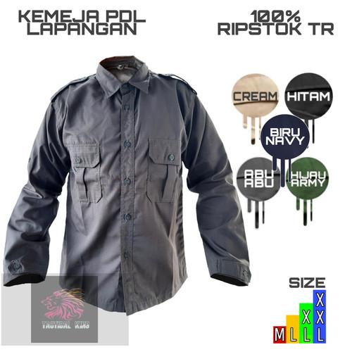 Foto Produk kemeja PDL lapangan/pakaian kerja/outdoor - Abu-abu, L dari Tactical king