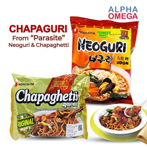 Foto Produk CHAPAGURI RAMDON (CHAPAGHETTI & NEOGURI) - PAKET PARASITE MIE INSTANT - ORIGINAL dari alphaomega shop
