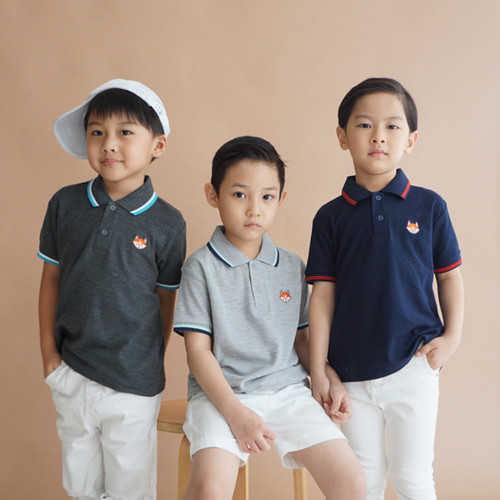 Foto Produk Polo Shirt Anak Warna Misty Muda Usia 1-9Tahun| P015 by Little Jergio - Navy, S 1Y dari Little Jergio