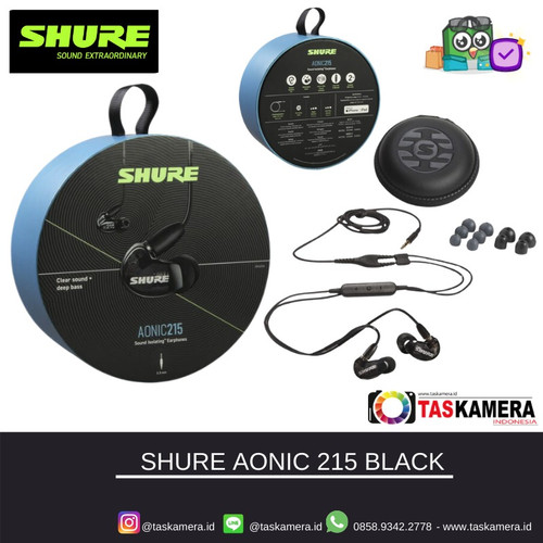 Foto Produk SHURE SE215 Black Sound Isolating Earphones - Earphone SHURE dari taskamera-id