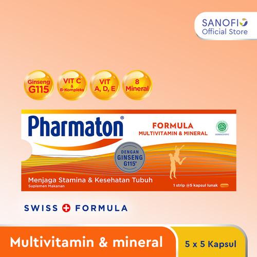 Foto Produk Pharmaton Formula 25s - Multivitamin Suplemen untuk menjaga stamina dari Sanofi Official Store