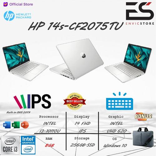 Foto Produk LAPTOP HP 14s i3 10110U 8GB 256GB-SSD WIN 10+OHS 2019 14 INCH-FHD IPS - SILVER dari EnVicStore