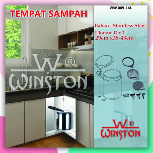 Foto Produk Tempat Sampah Tong Sampah Rak Dust Waste Bin Winston WW9-14L dari WINSTON SUKSES ABADI