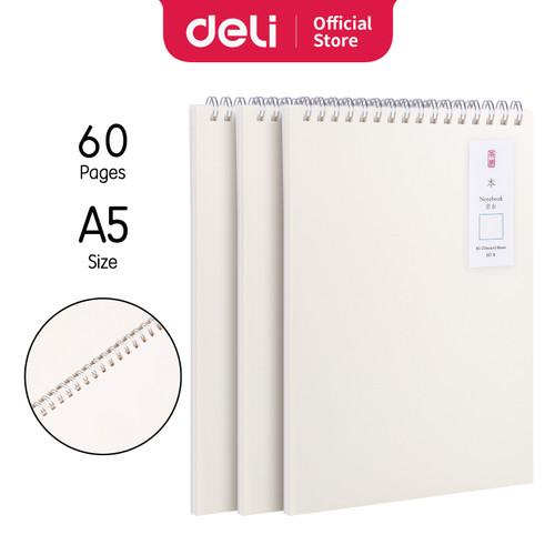 Foto Produk Deli Loose-Leaf Buku Notebook spiral B5 60 lembar LB560 - BLANK dari Deli Stationery