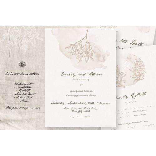 Jual Winter Wedding Invitation Set Desain Undangan Pernikahan Gdsbl2 Jakarta Pusat Maison De La Coeur Tokopedia