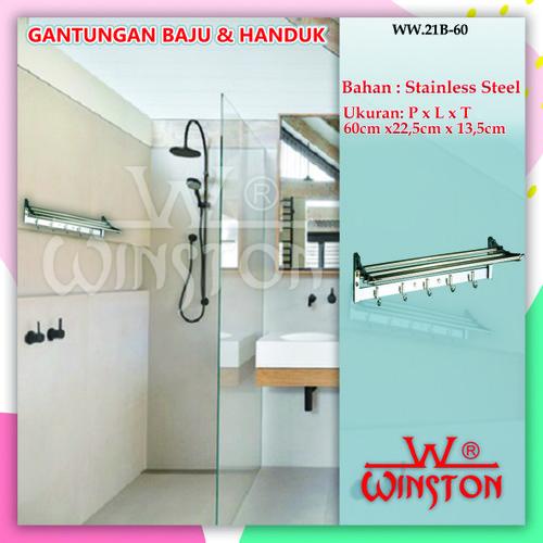 Foto Produk Rak Handuk /Gantungan Baju Handuk Dasi Stainless Winston WW 21B-60 dari WINSTON SUKSES ABADI