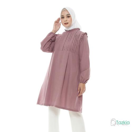 Foto Produk Atasan Muslim Wanita   Tara Tunik Lavender   S M L XL   Tazkia Hijab - XL dari Tazkia Hijab Store