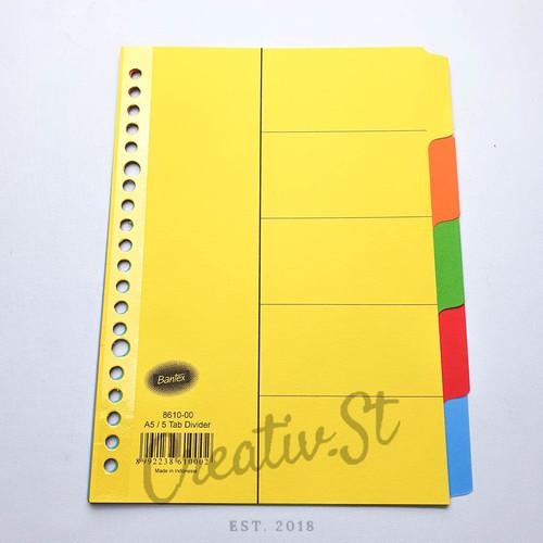 Foto Produk Pembatas Binder Loose Leaf Cardboard Divider Bantex A5 B5 8610 8607 - A5 - 8610 dari Creativ Stationery