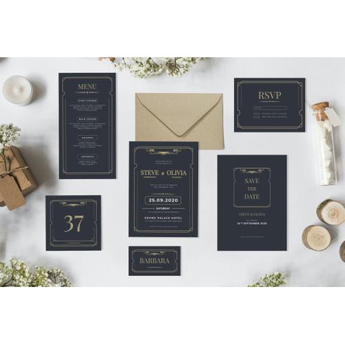Jual Minimalist Art Deco Wedding Invitation Desain Undangan Nikah Y6tufbt Jakarta Pusat Maison De La Coeur Tokopedia