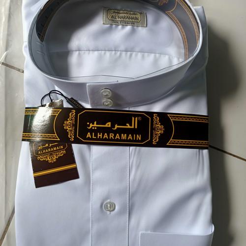 Foto Produk Gamis haramain impor viet polyster putih -jubah pria haramain polyster - Putih, 54/24 dari garasi muslim 03